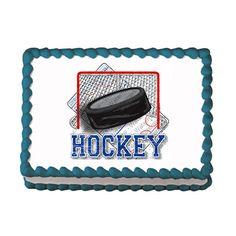 Hockey EDIBLE Image Cake Cupcake Topper by CakesPopsCupcakes, $7.95