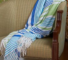 Berkshire Blanket Stripe Woven Throw