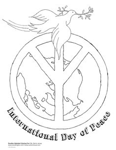 Peace Words Coloring Pages Pictures for kids