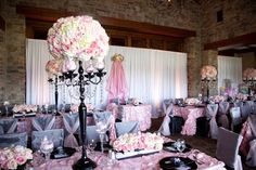 pictures of luxury baby showers | Ooh La La Pink Parisian Themed Flower Fantasy Luxury Baby Shower