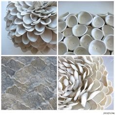 Chrysanthemum Wall Sculpture by DillyPad on Etsy, $85.00