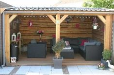 incredible backyard storage shed design and decor ideas 4 Backyard Patio Designs, Backyard Projects, Backyard Landscaping, Backyard Storage Sheds, Backyard Sheds, Decks, Garden Gazebo, Backyard Gazebo, Building A Shed