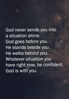 Jesus will never leave you or forsake me . Life Quotes Love, Faith Quotes, Great Quotes, Bible Quotes, Quotes To Live By, Me Quotes, Motivational Quotes, Inspirational Quotes, Qoutes