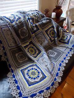 ❁❁ Inverno Flor Crochê Afegãos Crochê Cobertor -  / ❁❁ Winter Flower Crochet Afghan Blanket Crocheting -                                                                                                                                                                                 Mais