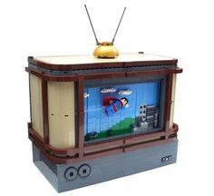 Lego Superman Minifig TV with Scrolling Background
