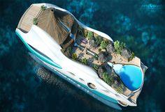Ils construisent une île tropicale sur un yacht, le résultat est bluffant
