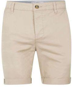 Stone Stretch Skinny Fit Chino Shorts