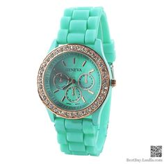 Mint Green Women Wristwatch Luxury Crystal Watches 5colors