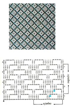 CROCHET - Lovely Feminine Wide Boarder Lattice Stitch Pattern (Asian Pattern, Found on Russian Website (allmyhobby. Motif Bikini Crochet, Crochet Lace Edging, Crochet Diagram, Love Crochet, Crochet Doilies, Crochet Flowers, Filet Crochet Charts, Crochet Stitches Patterns, Knitting Stitches
