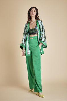 ccc228e46d0 Pantalon Acis - Satin vert. Pantalon Acis - Satin vert - Fête Impériale