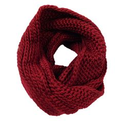 Knit infinity scarf. 100% polyester. One size.