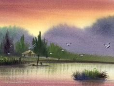 watercolor landscape artists | Painting Wallpaper ?Rural Landscapes Paintings, Watercolor Landscape ...
