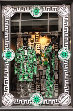 The window display for Versus x M.I.A. pop up store launch #MIAXVersus #VersusVersace #browns