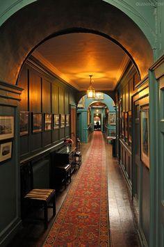 decordesignreview:    Corridor, interior furnishings around 1860, at Walmer Castle, 1540, Walmer, Deal, Kent,
