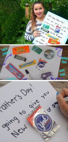 Candy Card   DIY Fathers Day Crafts for Kids