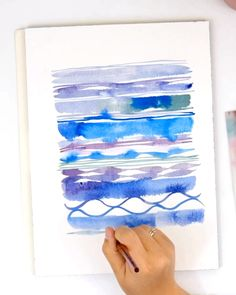 Learn the correct brush strokes for painting loose watercolor flowers with this simple, step-by-step Watercolor Paintings For Beginners, Watercolor Video, Watercolor Paintings Abstract, Watercolour Tutorials, Watercolor Techniques, Watercolor And Ink, Watercolor Trees, Watercolor Background, Watercolor Landscape