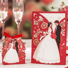 Red Laser Cut Wedding Invitations Wishmade Luxurious Elegant Bride Groom Invitation Cards for Wedding 2016 Laser Cut Wedding Invitations, Wedding Invitation Cards, Wedding Favors, Our Wedding, Wedding Decorations, Wedding Events, Invite, Destination Wedding, Wedding Card Design