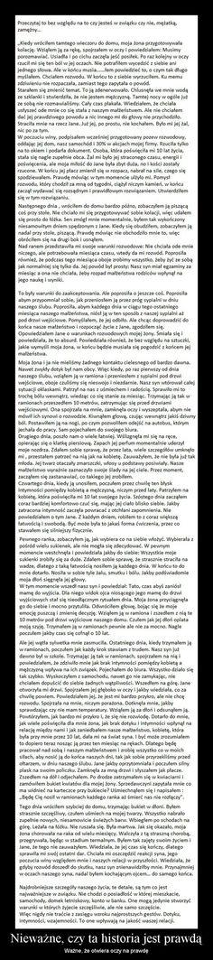 Przeczytaj to bez względu na to czy jesteś w związku czy nie, mężatką...