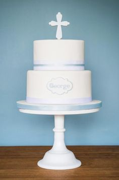 Christening cake by Craftsy member Flourgirl Cakes
