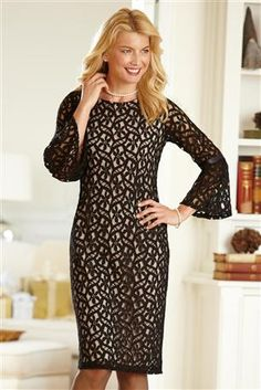 Tiana B Bell-sleeve Lace Dress chadwicks This may be it!!
