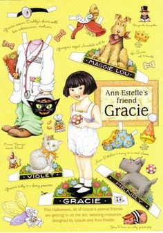 Gracie paper doll - I actually have these since my granddaughter's name is Gracie:)