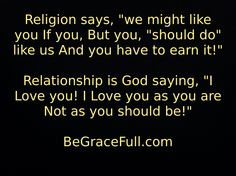 Religion is Not Relationship!