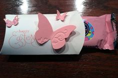 Pink and White Easter Butterfly gift box pink and by knitnifty