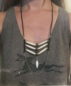 Hairpipe tribal statement necklace by TribalChicBoutique on Etsy