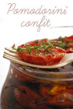 cucinando con mia sorella: Pomodorini Confit -o Canditi-