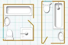 Narrow bathroom floor plans - large and beautiful photos. Photo to select Narrow bathroom floor plans Small Bathroom Floor Plans, Bathroom Layout Plans, Small Basement Bathroom, Small Bathroom Layout, Small Floor Plans, House Layout Plans, Bathroom Ideas, Bathroom Designs, Small Narrow Bathroom