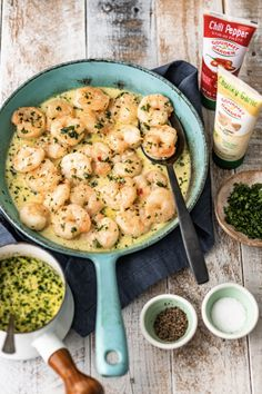 This spicy Garlic Shrimp recipe is a simple, easy recipe to make for appetizers or for dinner. It is just SO tasty, & only takes about 10 minutes to makes. Creamy Garlic Shrimp Recipe, Spicy Shrimp Recipes, Fish Recipes, Seafood Recipes, Dinner Recipes, Healthy Recipes, Healthy Foods, Dinner Ideas, Chicken Broth Nutrition