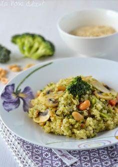 QUINOA CON VERDURAS, CURRY Y CACAHUETES Asian Quinoa Salad, Southwest Quinoa Salad, Real Food Recipes, Diet Recipes, Vegan Recipes, Yummy Food, Gnocchi, Polenta, Curry