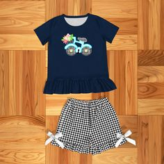 Smarter Shopping, Better Living! Girls Summer Outfits, Summer Girls, Girl Outfits, Casual Shorts, Casual Outfits, Cheap Baby Clothes, T Baby, T Shirt And Shorts, Outfit Sets