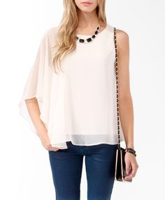 Draped Sleeve Top | FOREVER21 - 2000047132 $19.8