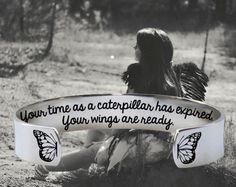 Your Time As a Caterpillar Bracelet | Graduation Gift