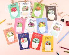 Sticky Note [ Flower Pot ] / Notepad / Memopad / 101383534 by DubuDumo on Etsy https://www.etsy.com/listing/255950800/sticky-note-flower-pot-notepad-memopad