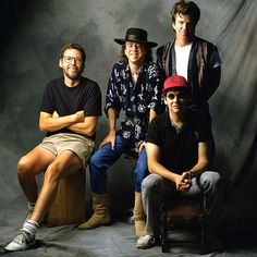 Singer Stevie Ray Vaughn and Double Trouble photographed on October 17, 1992 in Houston, TX.