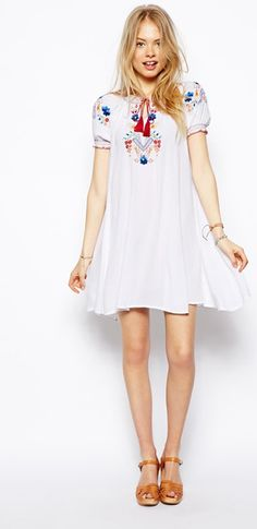ASOS embroidered dress, $123.85