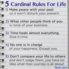 Cardinal Rules of Life