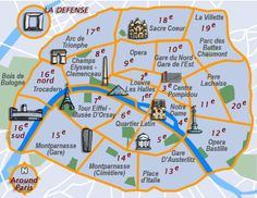Map Of Paris Neighborhoods And Landmarks 2 Where To Stay In A Guide The Arrondists