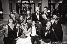 A good time wedding with the bridal party