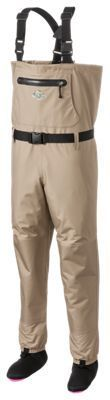 White River Fly Shop Classic Chest-High Stocking-Foot Breathable Waders for Ladies - XL