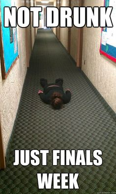 For all my college student friends out there that are a facing finals week in the coming days!
