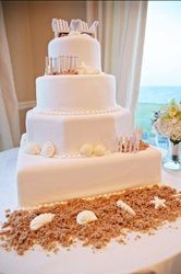 Beach theme Wedding  cake -Diane's Delectables Warwick, ri