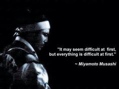 It may seem difficult at first, but everything is difficult at first. #quote #inspiration