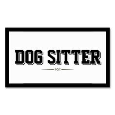 Modern Bold Border Dog Sitter Business Card. I love this design! It is available for customization or ready to buy as is. All you need is to add your business info to this template then place the order. It will ship within 24 hours. Just click the image to make your own!
