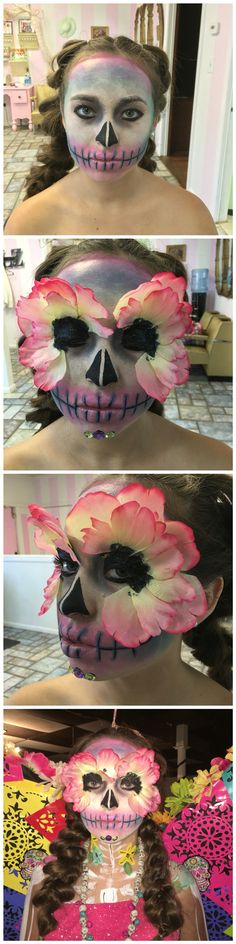 Day of the dead fashion show makeup. Done by @sheartastic from Paper Dollz Salon in Amarillo Tx.