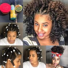  TRANSFORMATION TUESDAY  Curl crushing on @Naturally_Curla's #permrods results❤️ She twists the hair and wraps it around the roller to achieve those corkscrew #curls➰ Check out her YouTube channel for the deets #VoiceOfHair