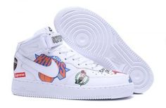 1c4fd93d9aa60 Mens Womens Nike Air Force 1 AF1 Teams White AQ8017 100 Shoes Sportswear Nike  Air Force