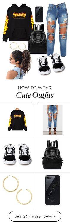"""Cute Outfit for high school"" by luzmacampo on Polyvore featuring WithChic, Sefton and BaubleBar"
